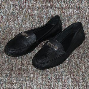 COACH Fredrica Black Leather Driving Loafers 8